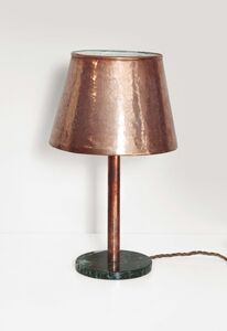 Attributed to Franco Albini, 'a table lamp with a marble base', 1950 ca.