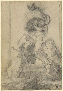 Gian Lorenzo Bernini, 'A Marine God with a Dolphin', 1652-1653
