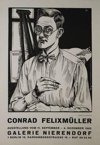 Conrad Felixmuller, 'Selbstbildnis mit Zeichenstift', 1927