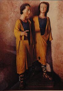 Ellen Auerbach & Eliot Porter, 'Actopan, Twins', 1956