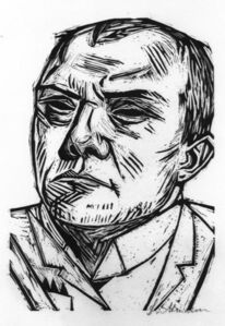 Max Beckmann, 'Selbstbildnis (Self-portrait)', 1922