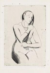 Isabel Bishop, 'Nude (Front View)', 1925-1988