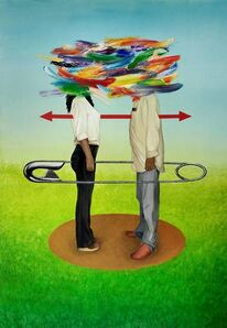 Antonio Peticov, 'Os Dois'