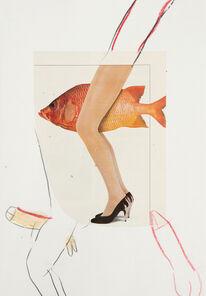 Elke Krystufek, 'Goldfisch', 1989