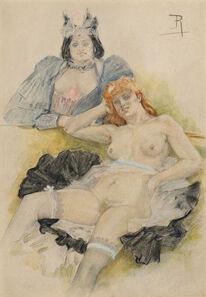 Félicien Rops, 'Les deux amies', 1879