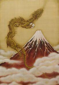 Ken Shiozaki, 'Mt. Fuji in Red', 2017