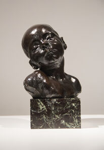 Jules Dalou, 'Head of a Sleeping Baby (Tete d'enfant Endormi)', 1891