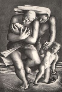Benton Spruance, 'Flight from the Beach', 1939