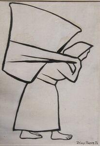 Diego Rivera, 'Mujer Con Canasta', 1936