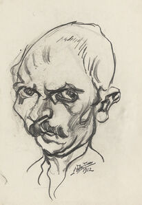 Ludwig Meidner, 'self portrait', 1912
