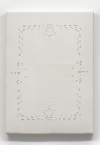 Ed Atkins, 'Untitled embroidered acoustic panel #11', 2019