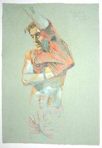 Jürgen Draeger, 'Mann zieht sich T-Shirt an', 1982