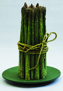 Rafael Muyor, 'Plate with bunch of asparagus', 2019