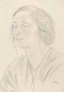 Augustus Edwin John, 'Head of Dorelia'