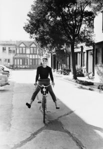 Mark Shaw, 'Audrey Hepburn on bicycle. Photographed for the December 1953 issue of LIFE', 1953