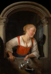 Gerrit Dou, 'Girl at a Window', ca. 1655