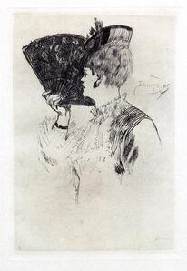 Félicien Rops, 'Manette Solomon or Parisine', 1876
