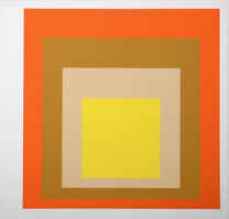 Josef Albers, 'Homage to the Square : Als Wechselwirkung der Farbe (B)', 1977