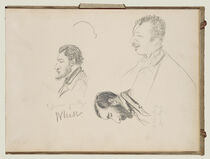 Sketches of Men in Profile