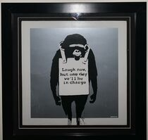 Banksy, 'Laugh Now But One Day We Will Be In Charge', 2008