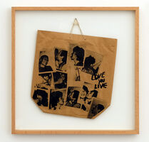 "Andy Warhol, 'Promotional paper shopping bag for The Rolling Stones 1977 LP, ""Love You Live"" designed by Andy Warhol', 1977"