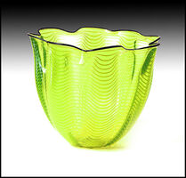 Dale Chihuly, 'Dale Chihuly ORIGINAL Hand Blown Glass Macchia Large Hand Signed Modern Basket', Late 20th Century
