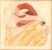 Tom Wesselmann, 'Smoker Study', ca. 1973