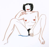 Tom Wesselmann, 'MONICA SITTING WITH LEGS SPREAD', 1985-1997