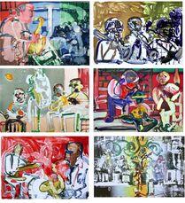Jazz Series (Suite of Six Artworks)