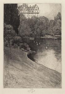 Charles Frederick William Mielatz, 'Bit of Central Park', probably 1918