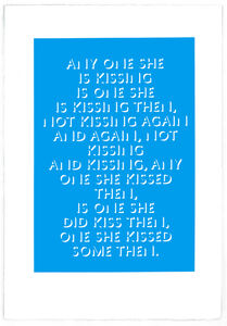 Eve Fowler, 'any one she is kissing', 2018