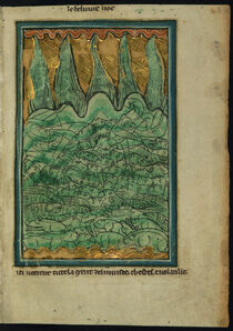 William de Brailes, 'The Flood of Noah (Genesis 7:11-24)', ca. 1250