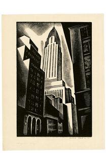 Howard N. Cook, 'Chrysler Building (Chrysler Building in Construction)', 1930