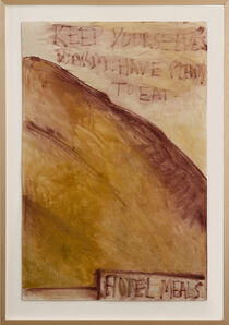 Colin McCahon, 'About the Kurow Hotel', 1972