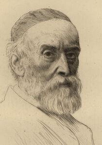 Alphonse Legros, 'Portrait de G.F. Watts R.A.', 1877-1890