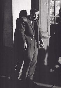 """Monique Jacot, '""""Tirez sur le pianiste"""" François Truffaut et Aznavour, Paris', 1960"""
