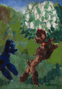 Kees van Dongen, 'Deux caniches jouant dans un parc ( Two poodles playing in the park)', ca. 1938