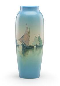 Carl Schmidt, 'Marine Scenic Vellum vase (uncrazed), Cincinnati, OH', 1926