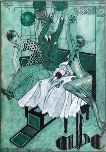 Jorge Barradas, 'As noites mais alegres', 1927