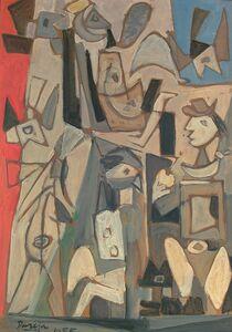 Miguel Ángel Pareja, 'Composición con figuras', 1955