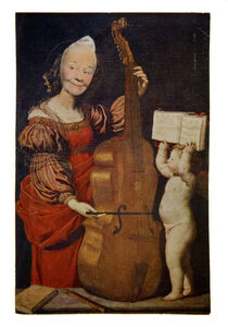 May Wilson, 'Ridiculous Portrait (cello and cherub)', 1965-1972