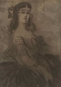 Constantin Guys, 'Seated Lady', 19th Century