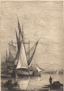 Adolphe Appian, 'The Port of Genoa', ca. 1877