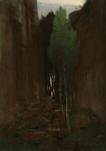 Arnold Böcklin, 'Quell in einer Felsschlucht (Spring in a Narrow Gorge)', 1881