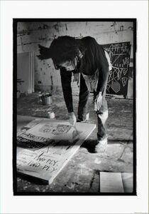 Roland Hagenberg, 'Basquiat painting on floor, New York, 1983', 1983