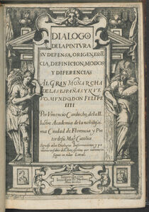 Vicente Carducho, 'Dialogos de la pintvra : sv defensa, origen, essecia, definicion, modos y diferencias', 1633