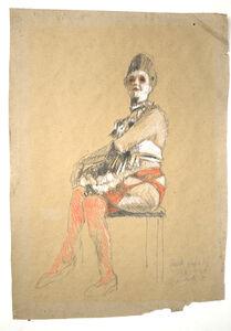 Jürgen Draeger, 'Hure sitzend auf dem Stuhl', 1982