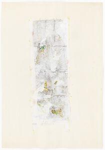Gerhard Hoehme, 'Das Liniengelbe', 1965