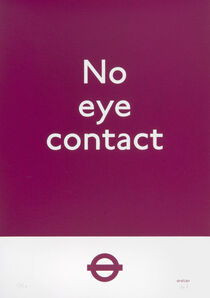 Dr D, 'No Eye Contact (Purple)'