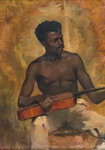 Francis Davis Millet, 'Guitariste de Nouvelle-Orléans'